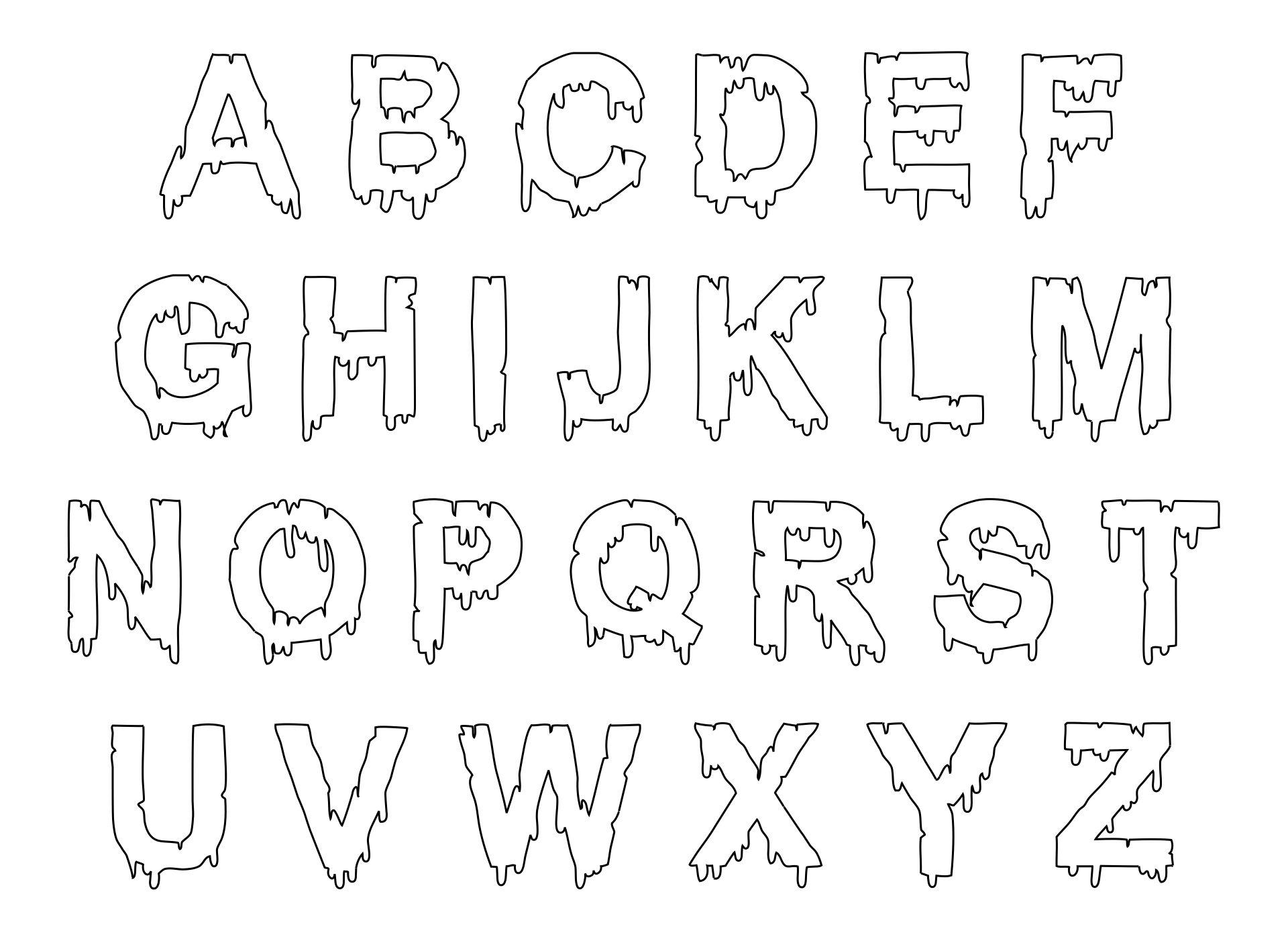 Halloween Letter Stencils