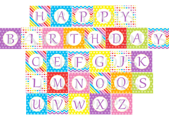 8 Images of Printable Rainbow Alphabet Letters