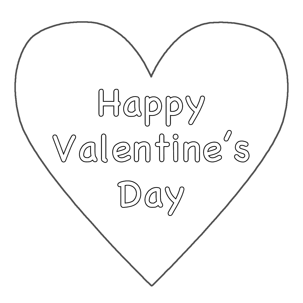 6 Images of Big Hearts Valentine Printable Coloring Pages