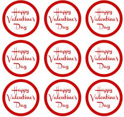 5 Images of Happy Valentine Day Label Printable