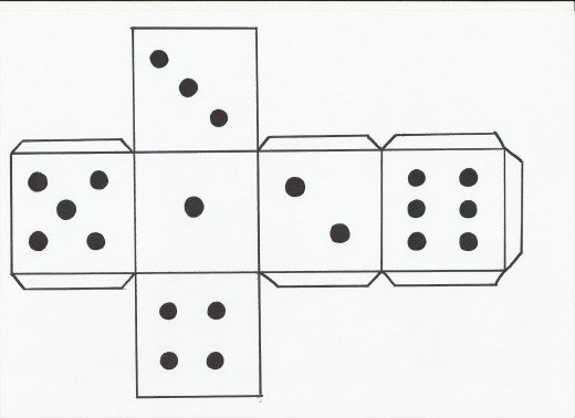 Number Names Worksheets : dice template with numbers ...