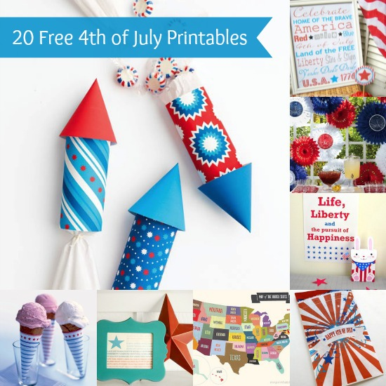 6 Images of Cool 4th July Free Printables