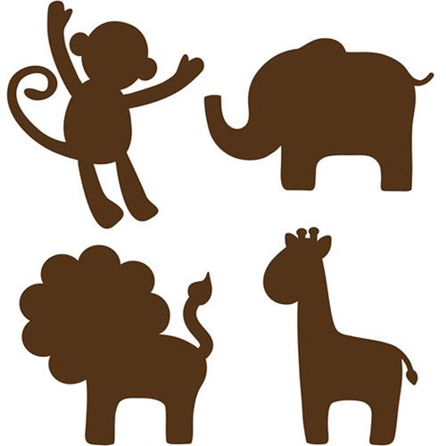 Jungle Animal Silhouette Clip Art