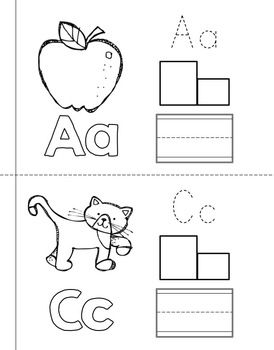 6 Images of Printable Alphabet Books For Pre-K