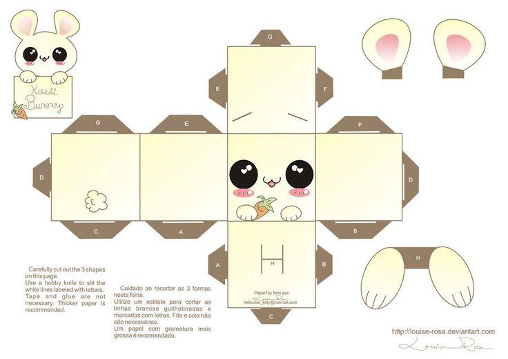 6 Images of Kawaii Box Printable