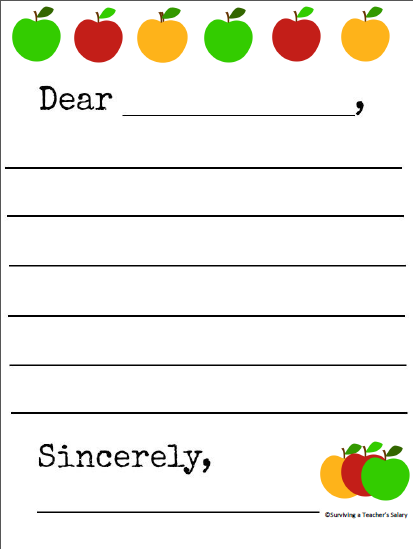 printable friendly letter writing paper Abcya computer lab: language arts - type a friendly letter | this interactive activity helps students to learn the five parts of a friendly letter by following the.