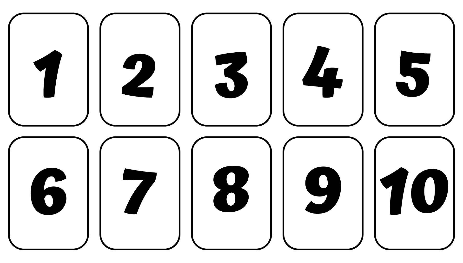8 Images of Printable Very Large Numbers 1 10