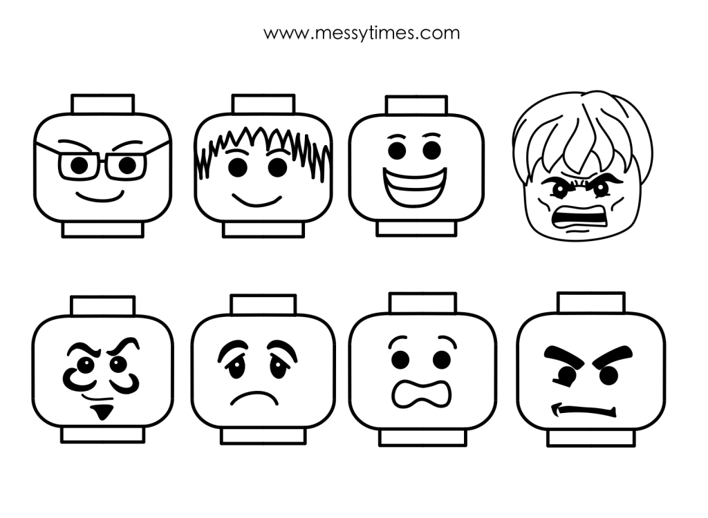 8 Images of LEGO Faces Printable