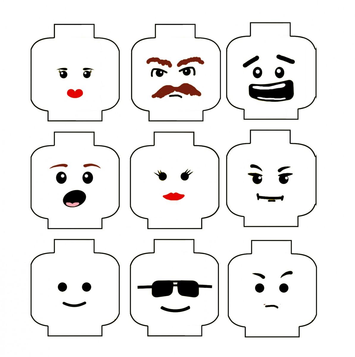 See LEGO Face Template Printable, Printable LEGO Head Face & Printable ...