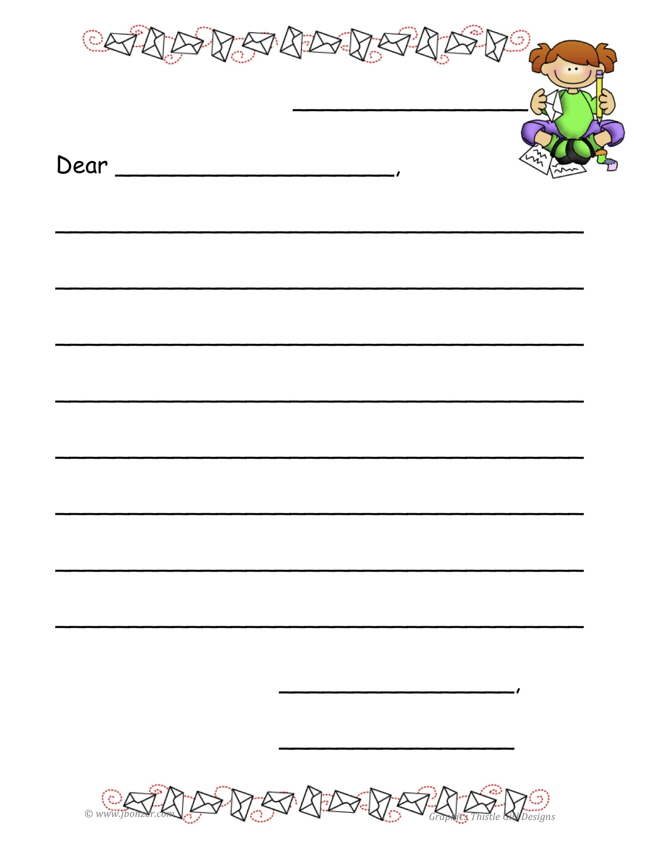 letter writing paper for kids letter format 2017 printable