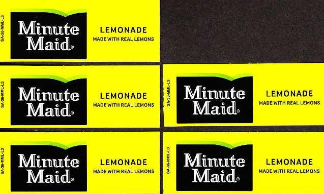 soda machine labels