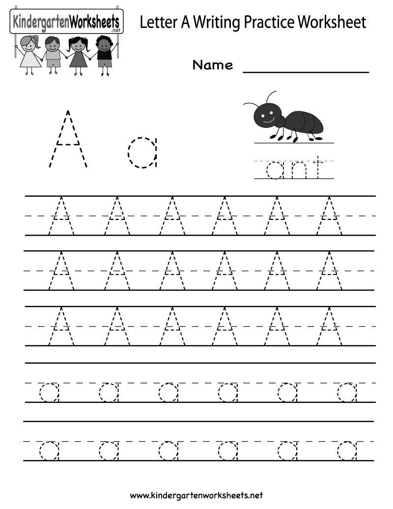 4 Images of Letter Practice Printables
