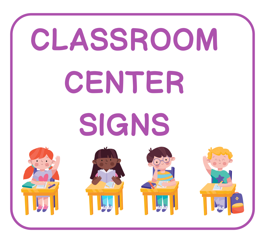 5 Best Printable Classroom Center Signs Printablee Com