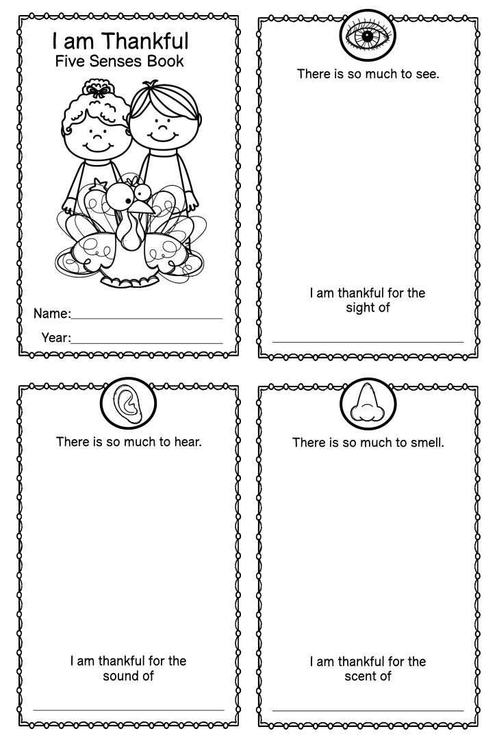 Preschool Thanksgiving Printable Book