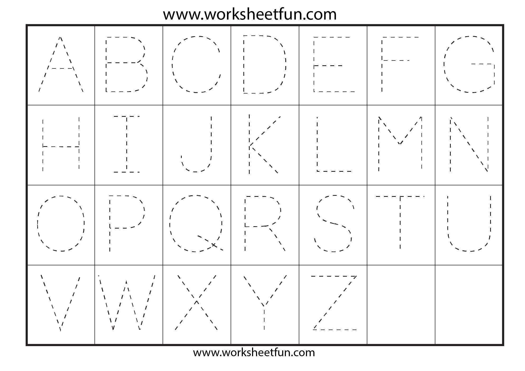 Printable Alphabet Letter Tracing Worksheets