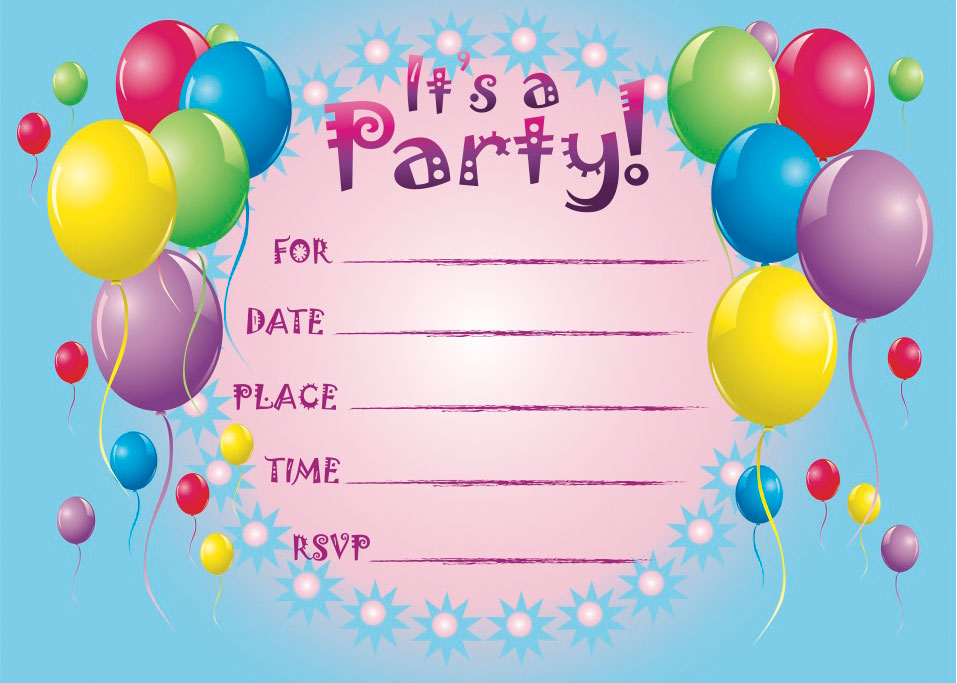5 Images of Make Free Printable Birthday Invitations