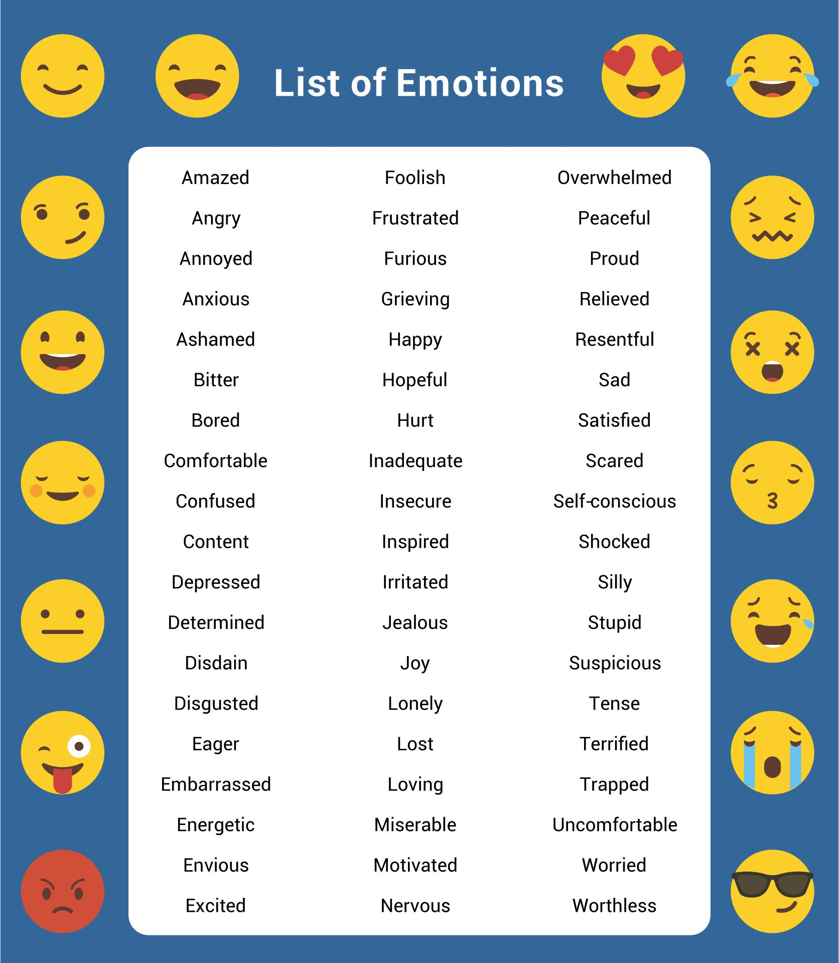 7 Images of Printable Feelings Chart