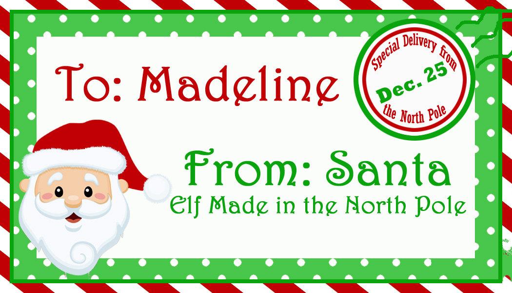 Printable Gift Tags From Santa