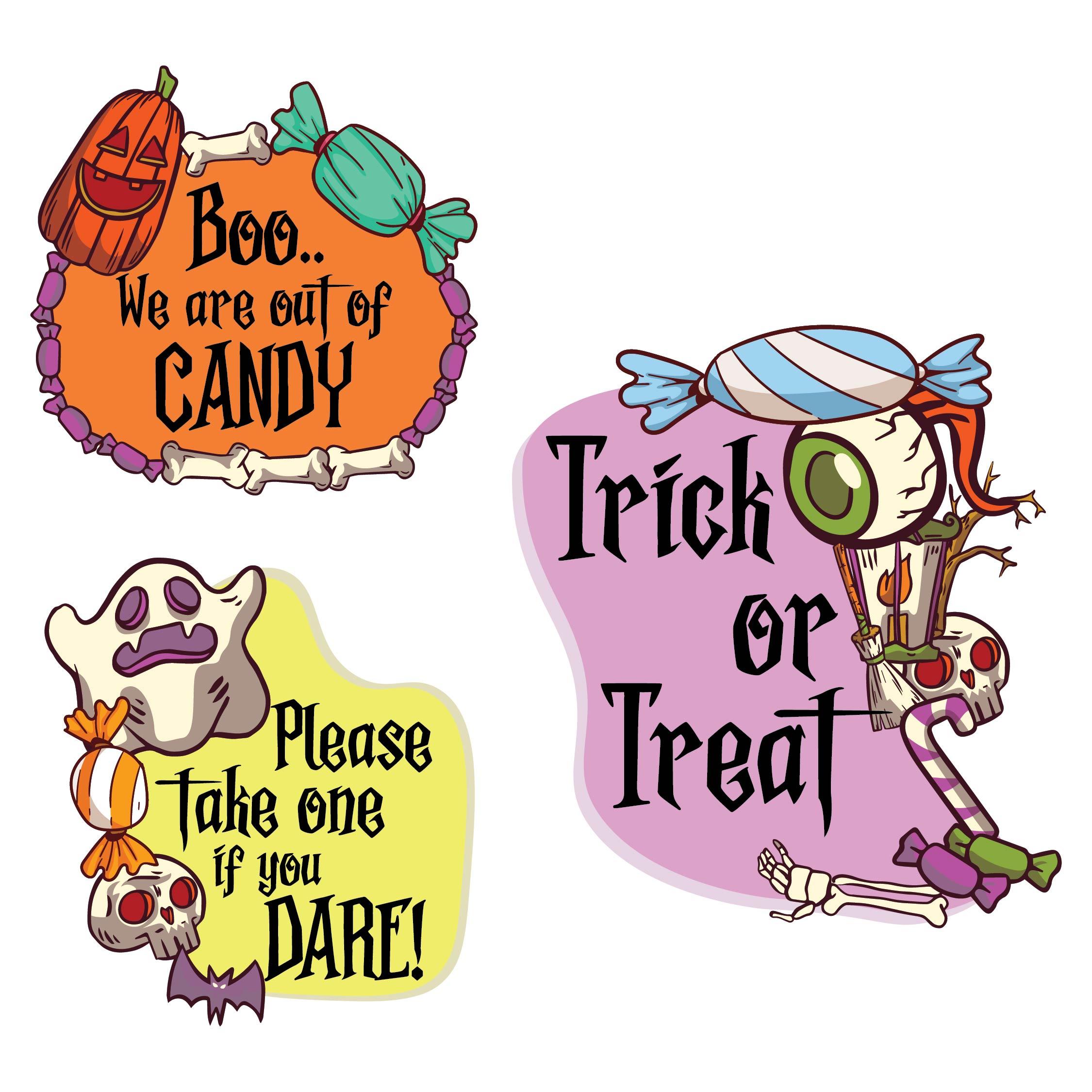 Printable Halloween Candy Signs