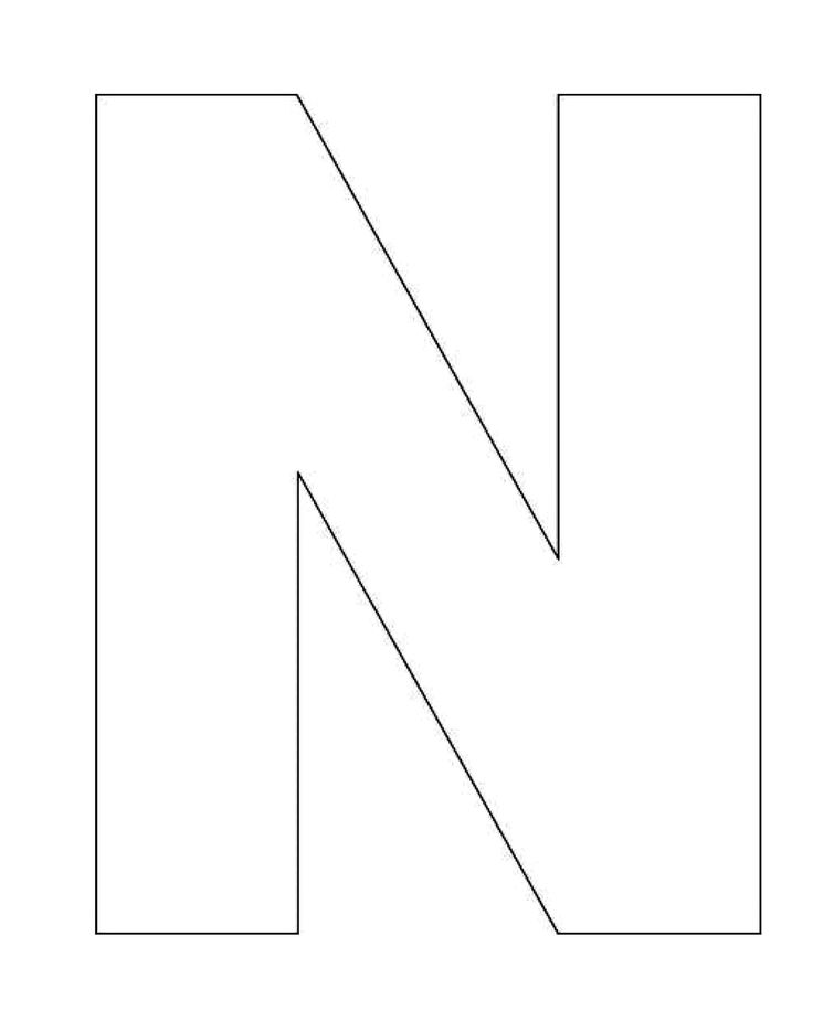 block letter n 7 best images of printable block letter n block letter 223