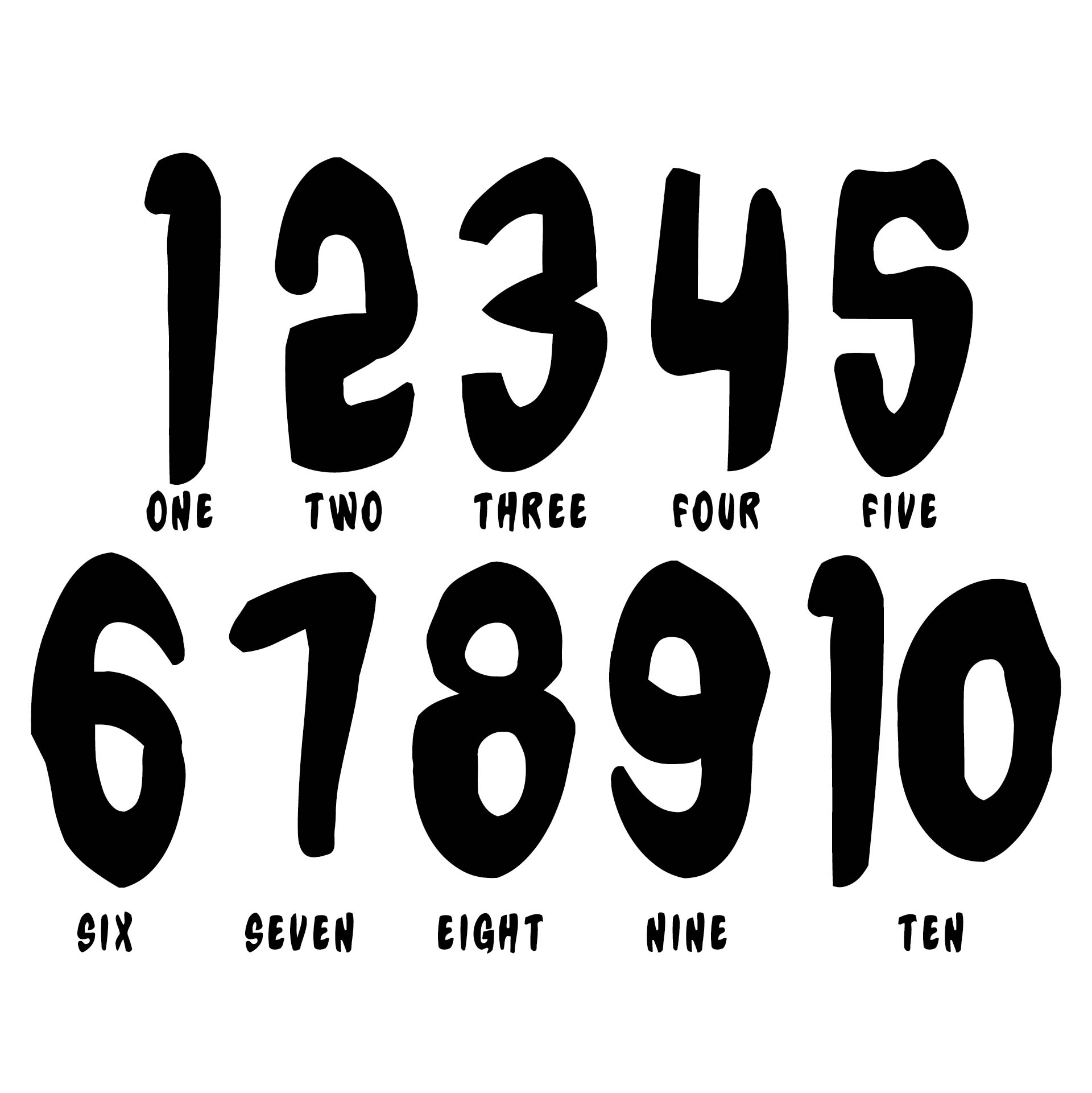 Influential image within printable numbers 1-10 stencils