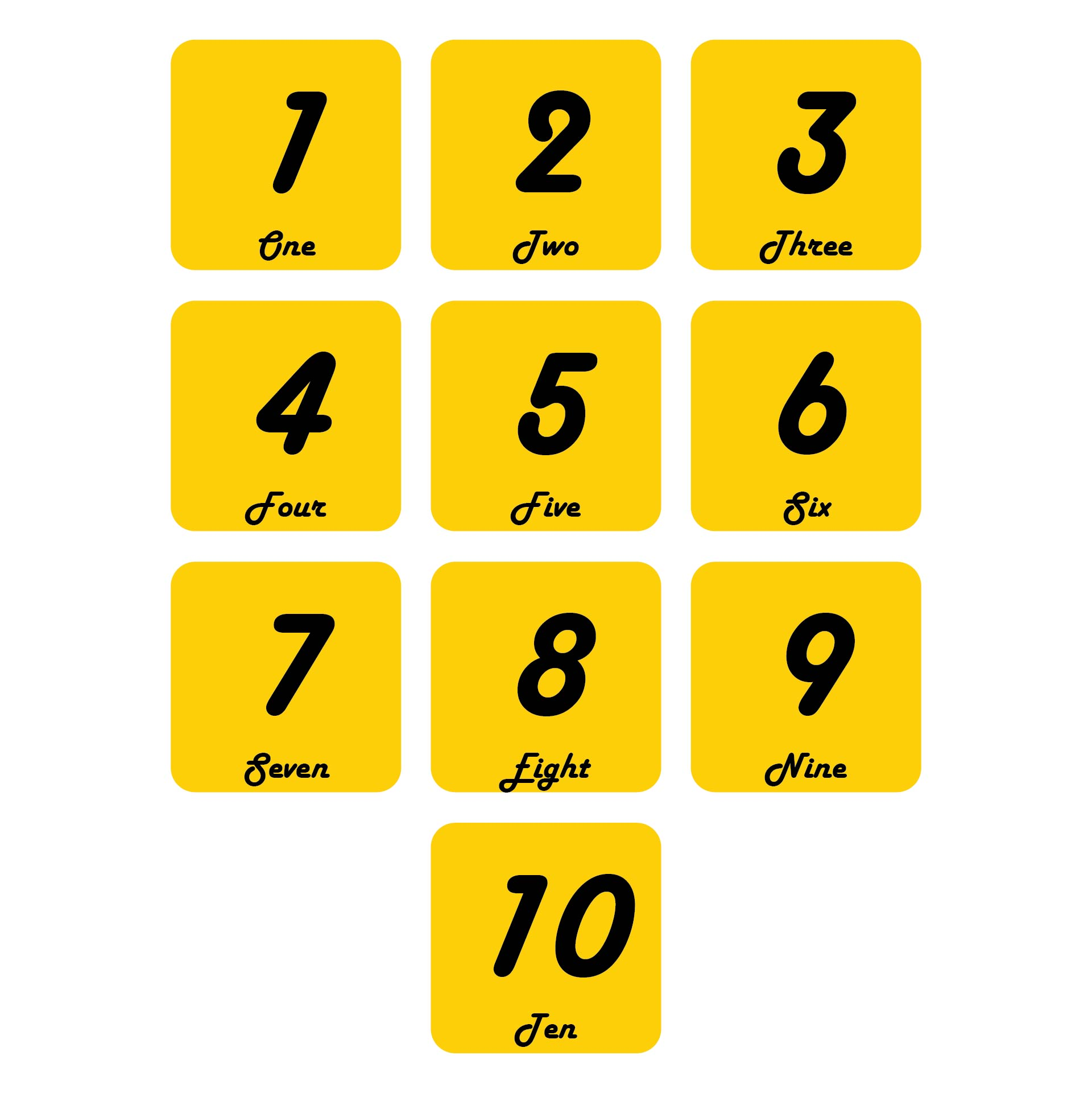 Best Images of Printable Very Large Numbers 1 10 - Large ...