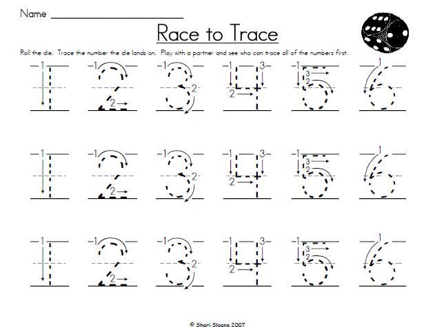Number Names Worksheets free printable alphabet tracing sheets : 6 Best Images of Free Printable Alphabet Tracing Numbers ...