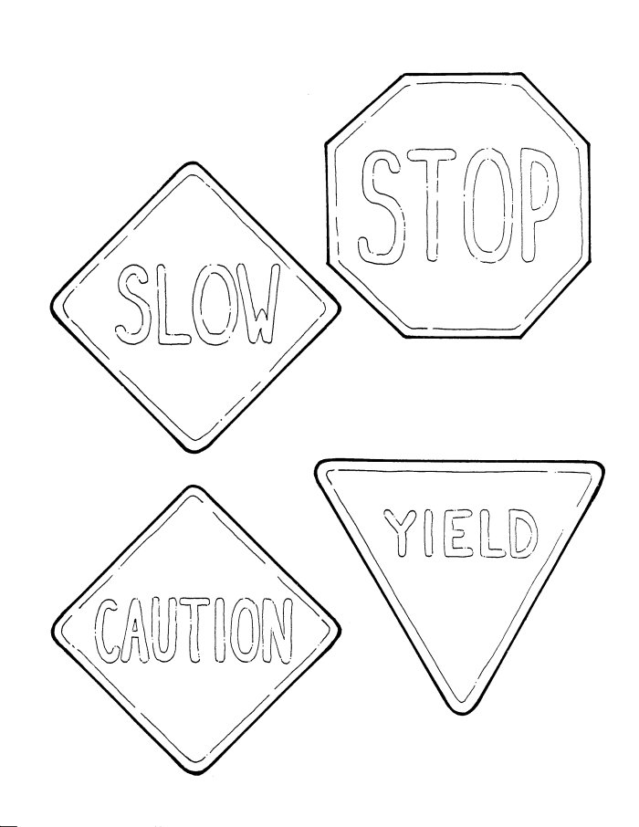 road signs coloring pages - 6 best images of road signs printable coloring pages
