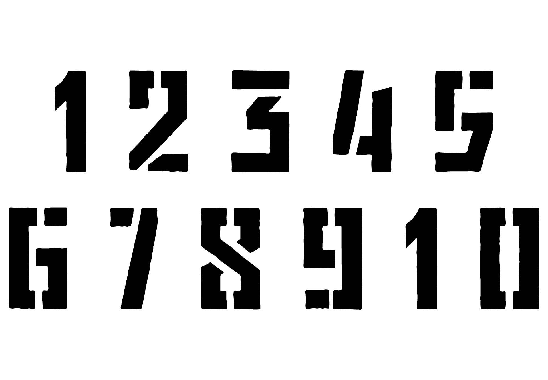 Printable Stencil Numbers 1 10