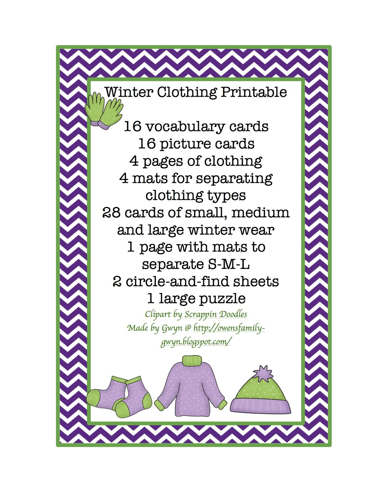 5 Images of Clothing Home Printables