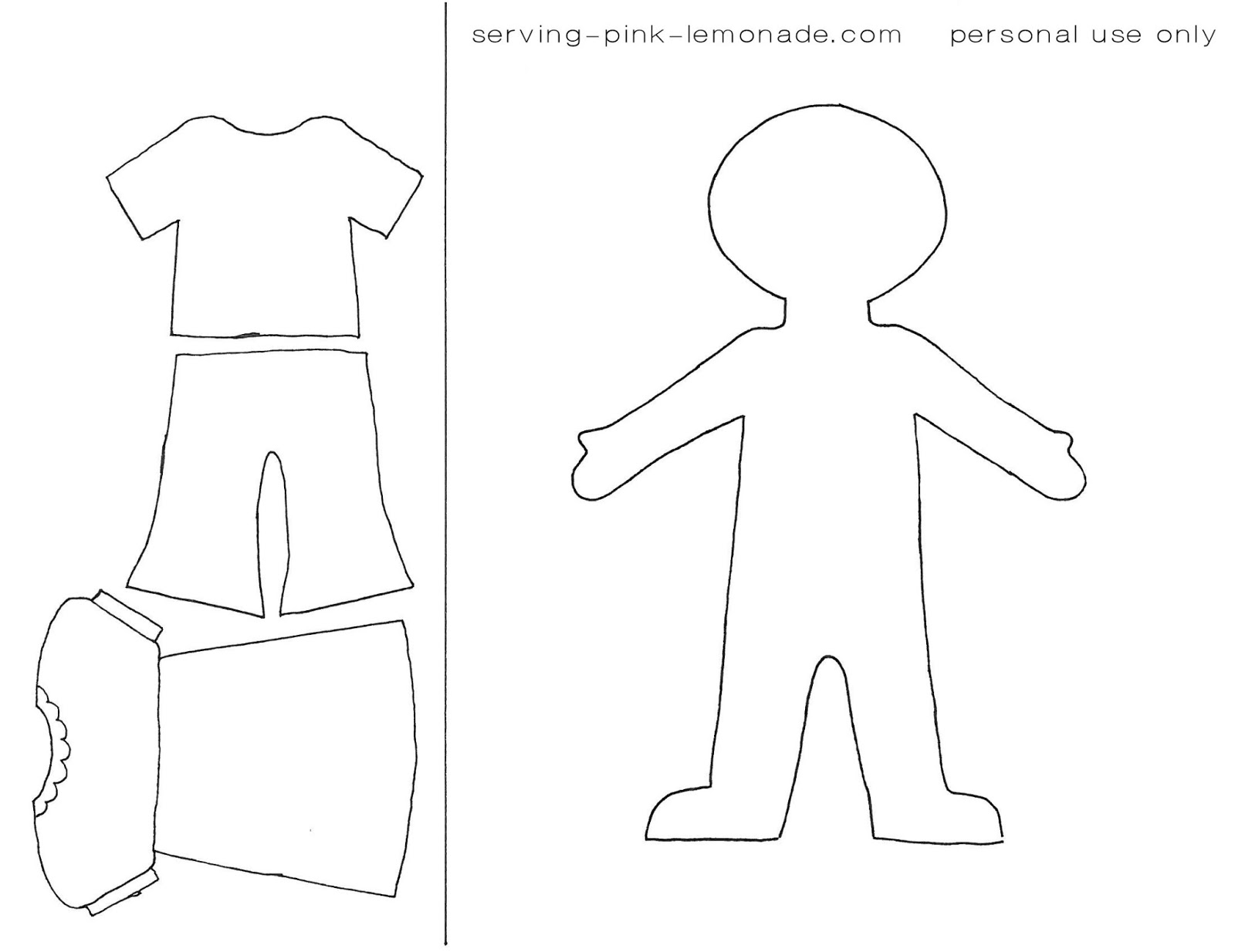 8 Images of Free Printable People Templates