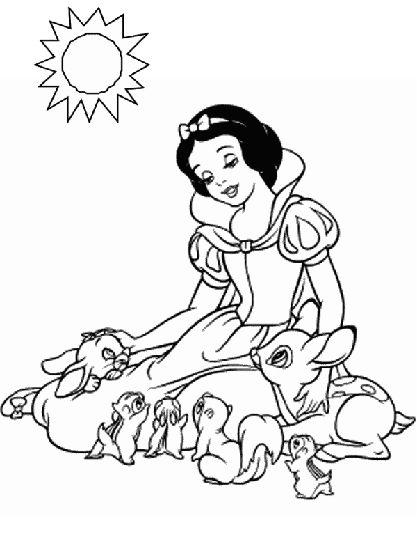 6 Images of Free Printable Coloring Pages Snow White