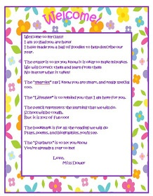 5 Images of Welcome Letter Printable From Teacher