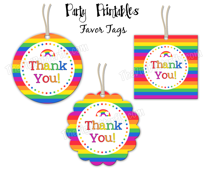 Thank You Party Favor Tags