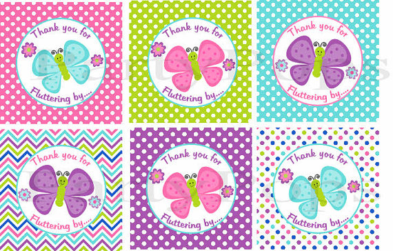 Thank You Tags Free Printables Butterfly