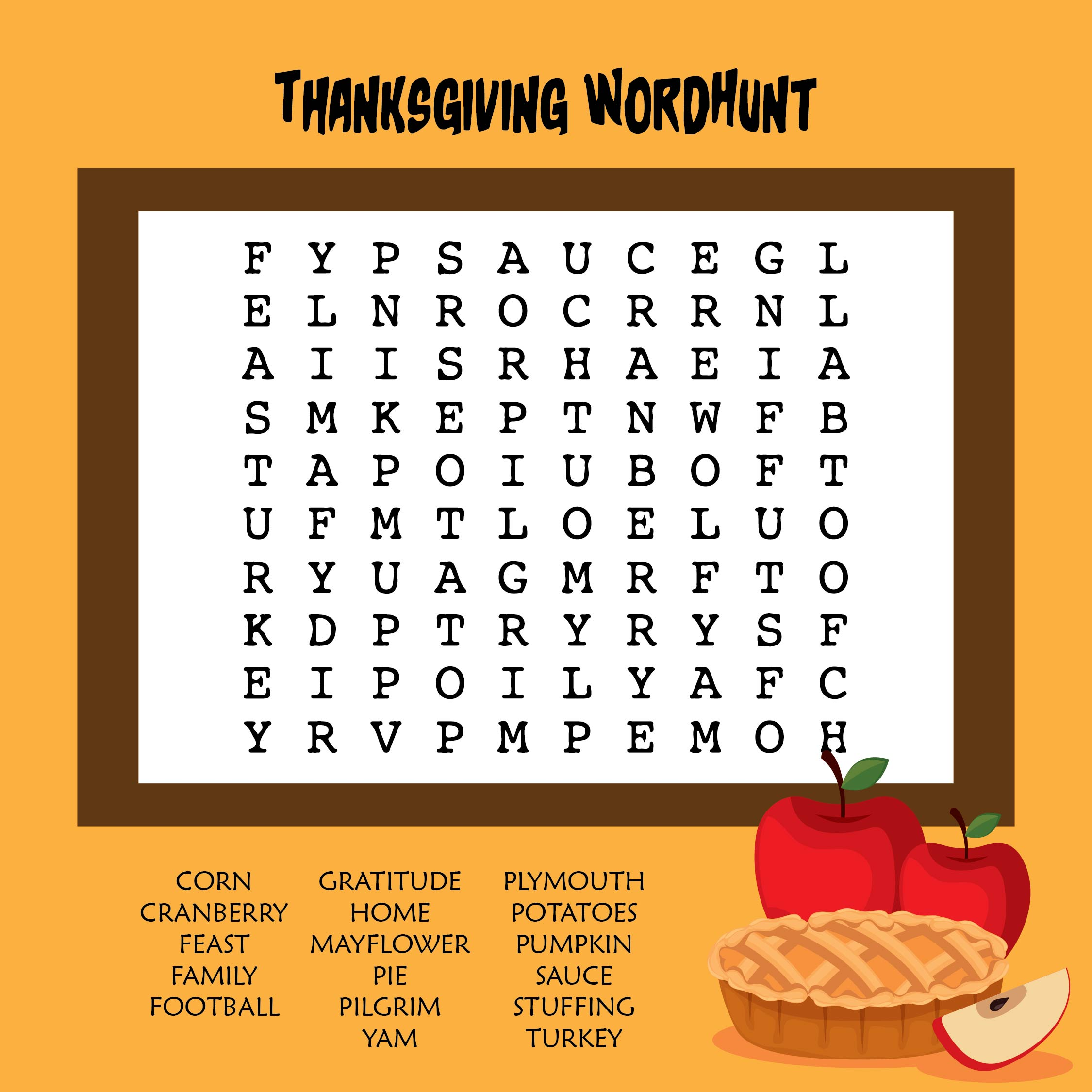 Thanksgiving Word Activities