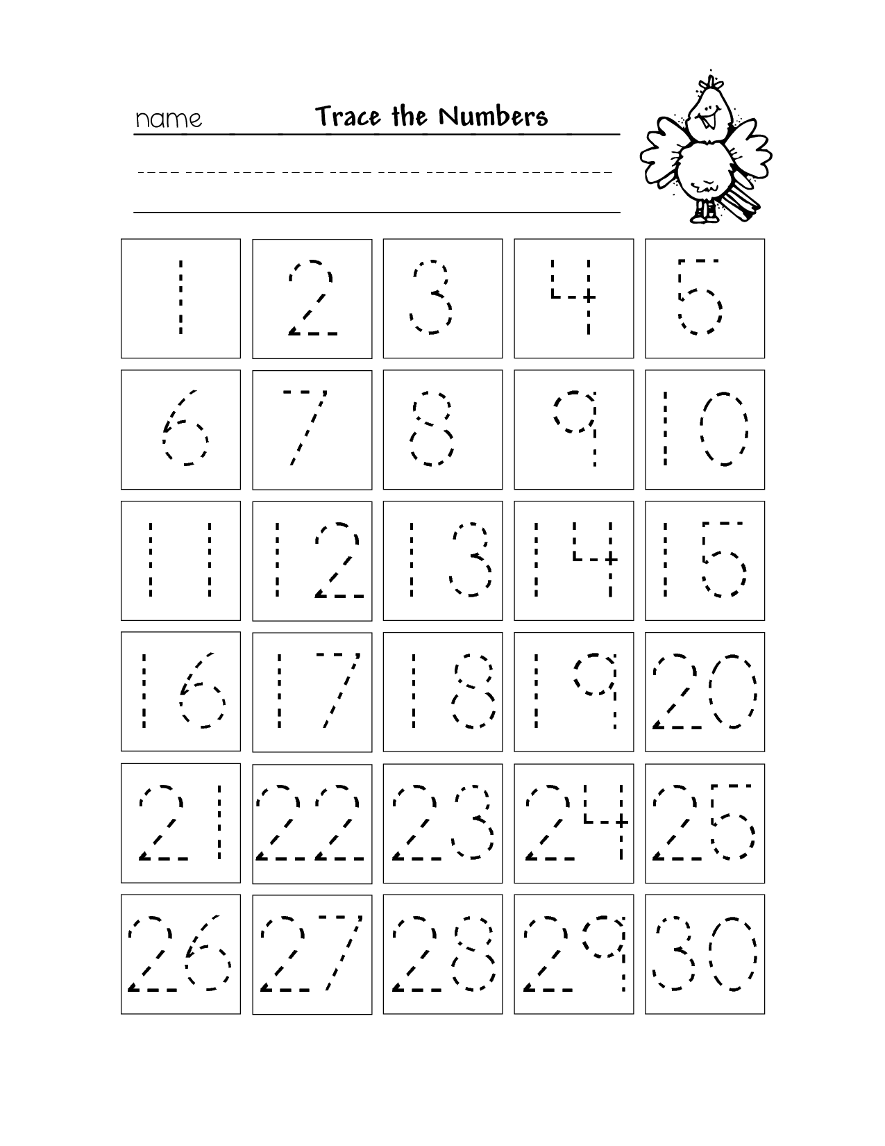 4 Images of Free Printable Traceable Numbers