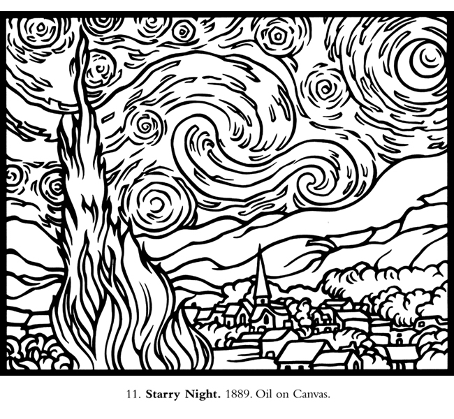 7 Images of Starry Night Printable