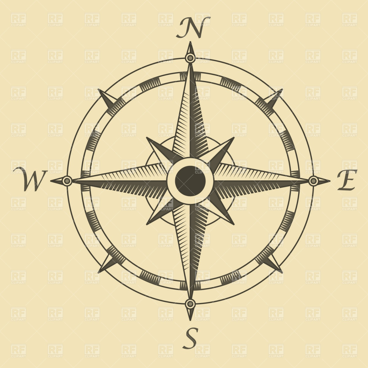 6 Images of Free Printable Vintage Compass