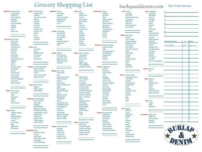 8 best images of printable grocery list by aisle free printable grocery list by aisle. Black Bedroom Furniture Sets. Home Design Ideas