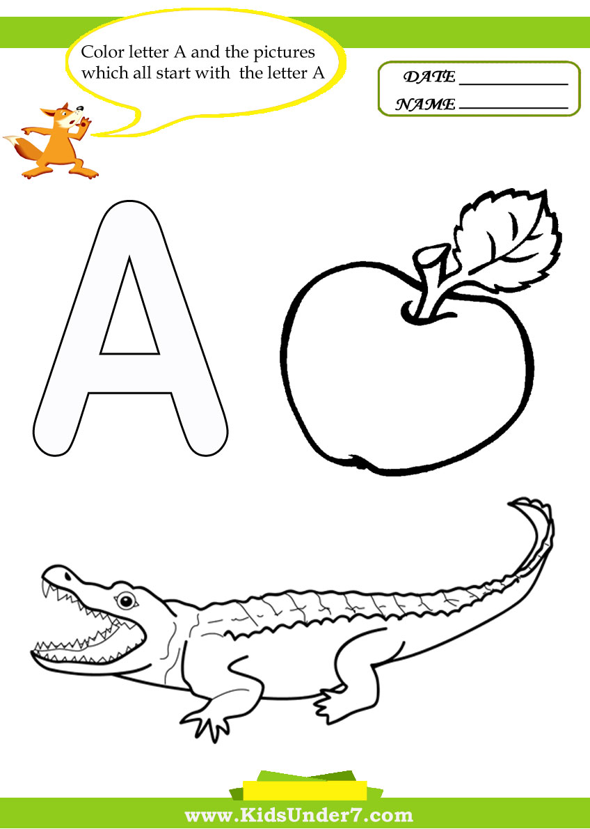 Letter A Coloring Worksheet 7 best images of worksheets color by ...
