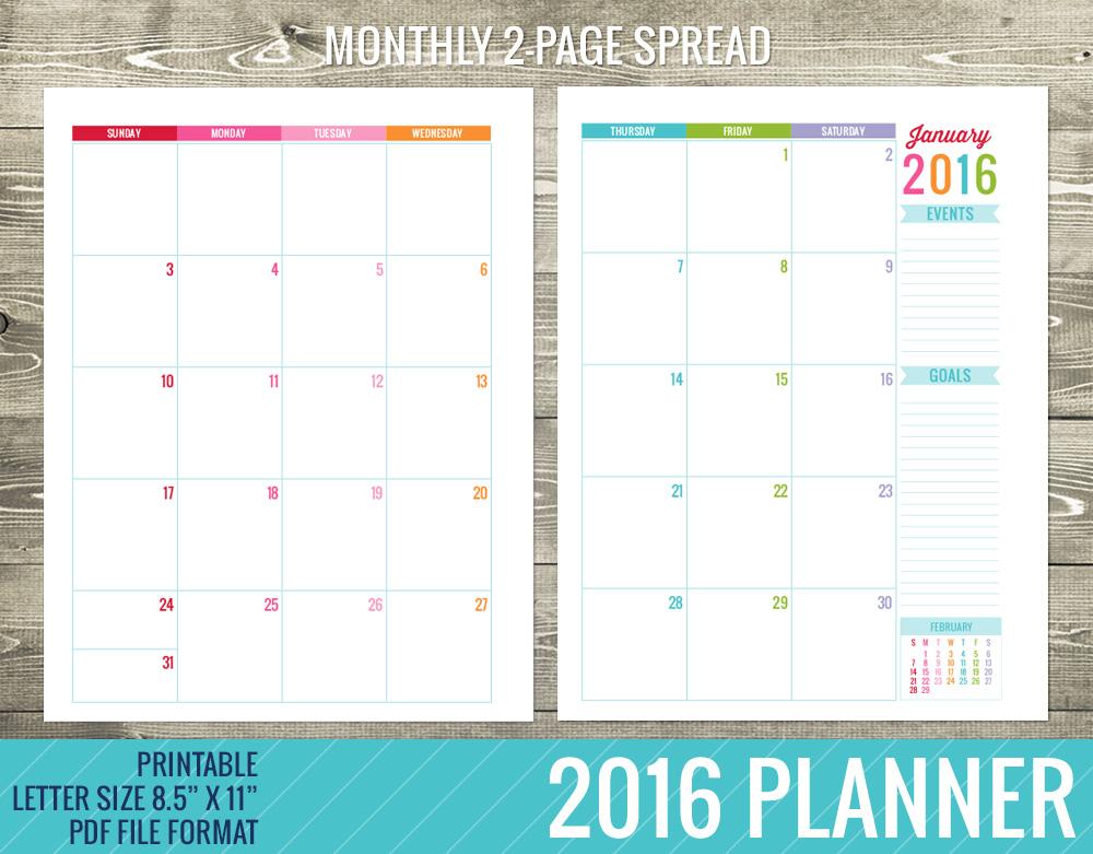 Daily Calendar Template 2016 : Best images of printable planner calendar