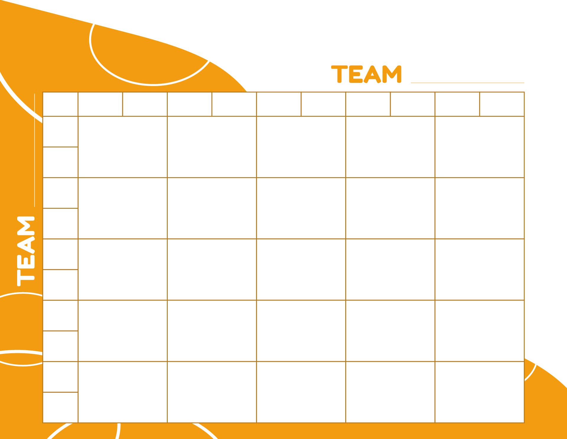 By 5 Grid Printable - 25 Square Football Pool Grid, Blank 100 Square ...