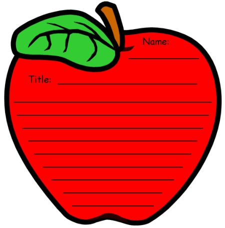 6 Images of Red Apple Template Printable