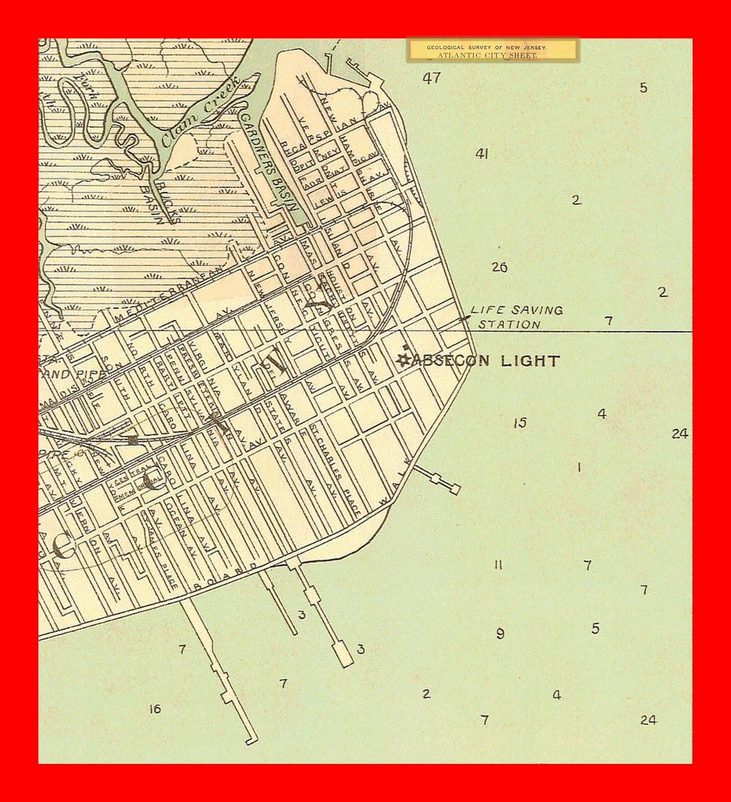 Atlantic City Map Printable