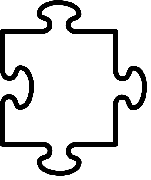 4 Images of Puzzle Pieces Coloring Pages Printable