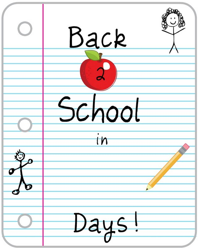 10 Images of Back To School Countdown Printables