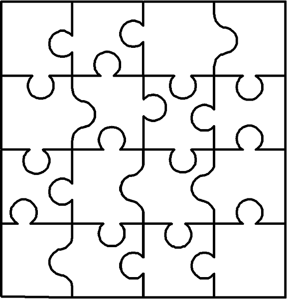4 best images of puzzle pieces coloring pages printable - Coloriage puzzle ...