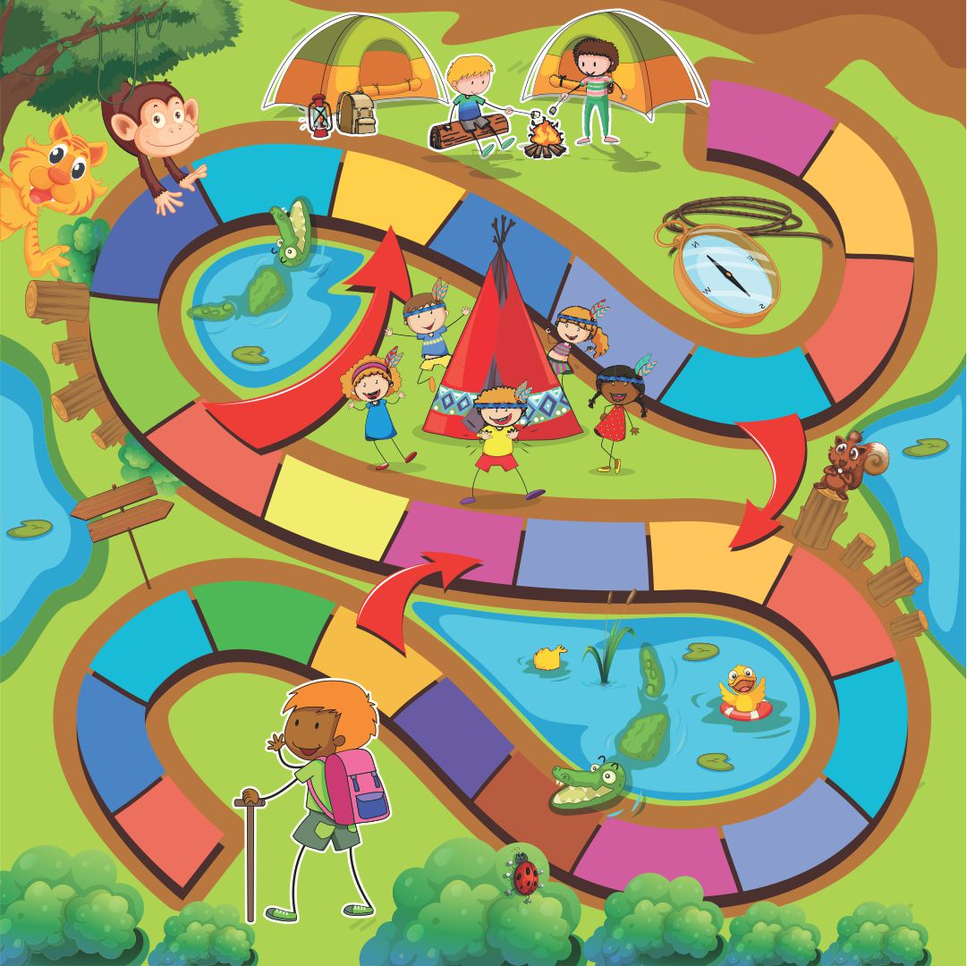 Candyland Land Game Board