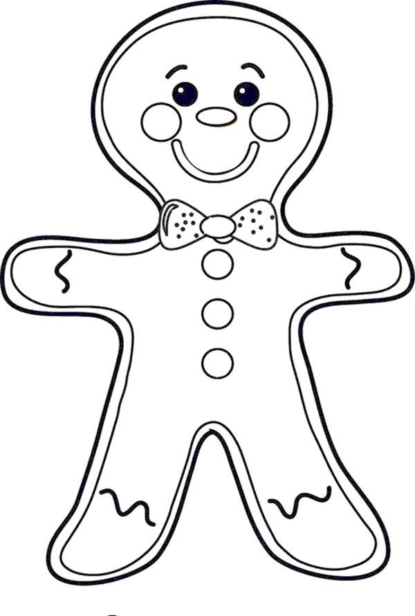 4 Best Gingerbread Man Printable - Printablee.com